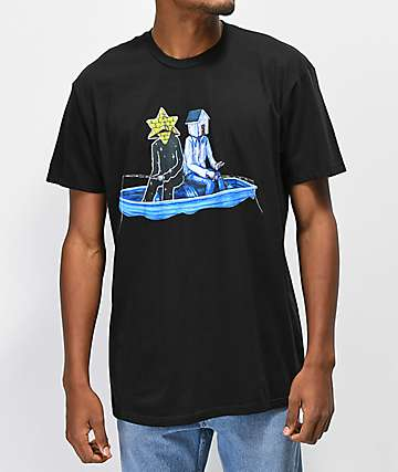 Pyramid Country Gone Fishing Black T-Shirt