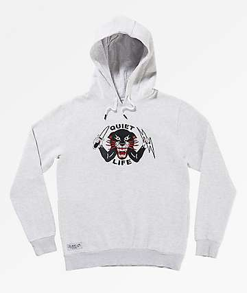 Quiet Life Ben Venom Light Grey Hoodie