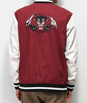 Quiet Life Ben Venom Maroon Coaches Jacket