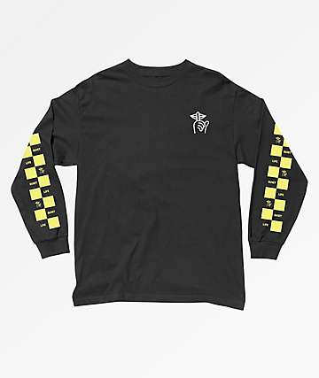 Quiet Life Checker Black & Yellow Long Sleeve T-Shirt