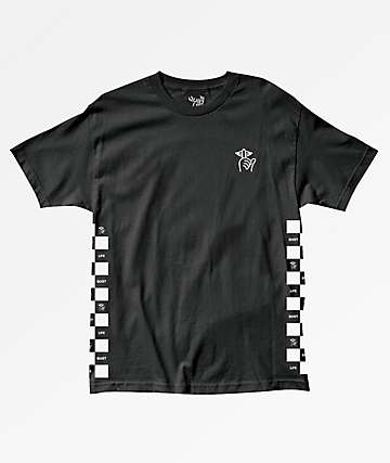 Quiet Life Checker Black T-Shirt