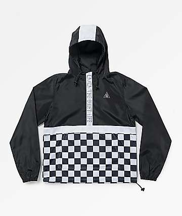 Quiet Life City Limits Black Checkered Anorak Jacket