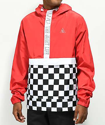 Quiet Life City Limits Red Checkered Windbreaker Jacket