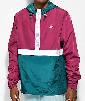Quiet Life City Limits Teal, Purple & White Anorak Jacket