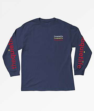 Quiet Life Origin Rainbow Navy Long Sleeve T-Shirt