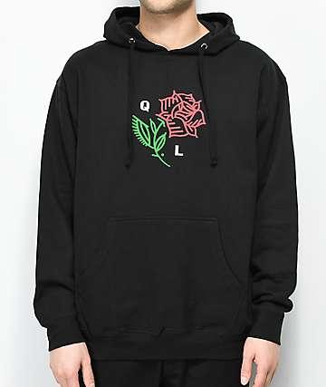 Quiet Life Rose Black Hoodie