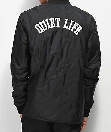 Quiet Life Rose Wave Black Bomber Jacket