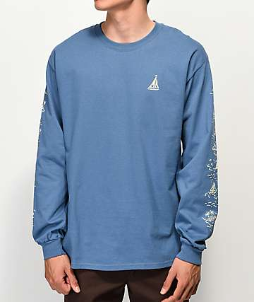 Quiet Life Sail Slate Blue Long Sleeve T-Shirt