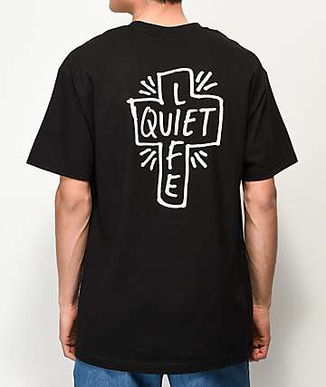 Quiet Life Sharpie Logo Black T-Shirt
