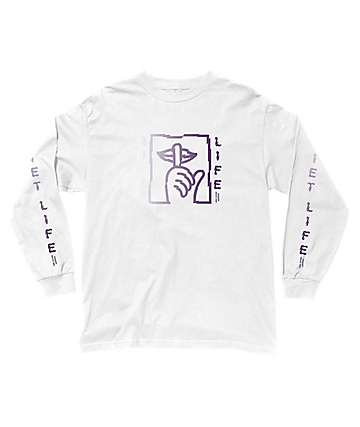 Quiet Life Shatter White Long Sleeve T-Shirt