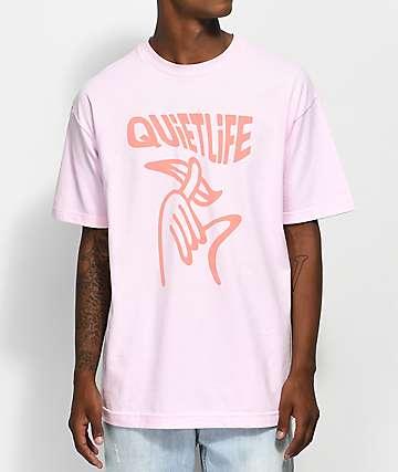 Quiet Life Shhh Wavy Pink T-Shirt