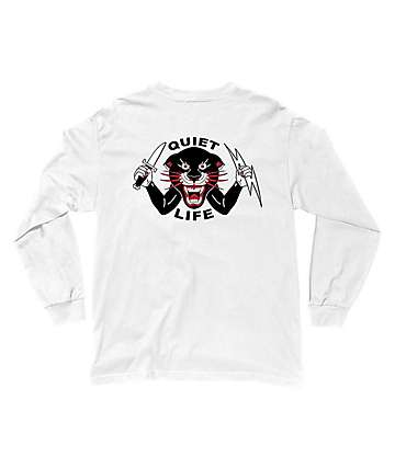 Quiet Life Venom Panther White Long Sleeve T-Shirt