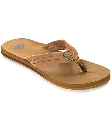 Quiksilver Carver Suede Tan Sandals