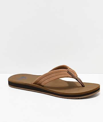 Quiksilver Carver Tan Suede Sandals