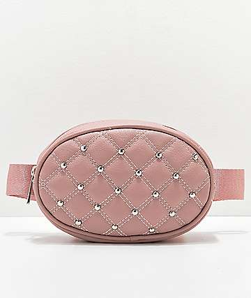 Quilted Pink Oval Fanny Pack