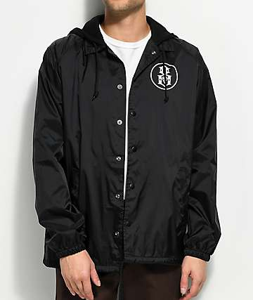REBEL8 Bite It Black Hooded Coaches Jacket