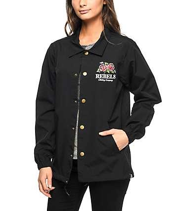 REBEL8 Centifolia Black Coaches Jacket