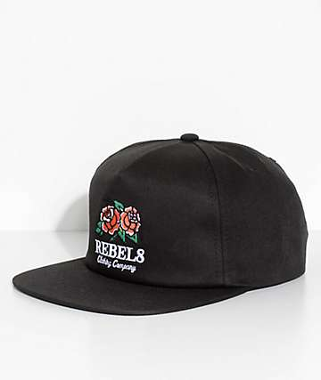 REBEL8 Centifolia Black Snapback Hat