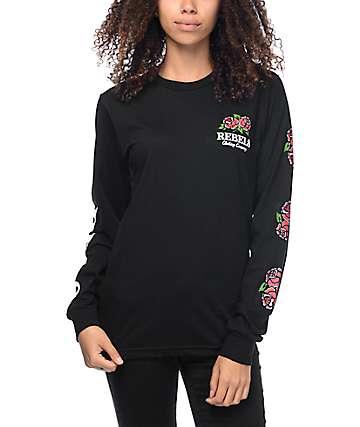 REBEL8 Centifolia camiseta manga larga en negro