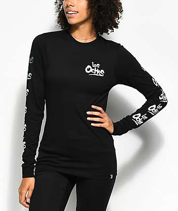 REBEL8 Coney Black Long Sleeve T-Shirt