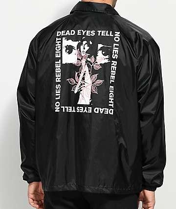 REBEL8 Dead Eyes Black Coaches Jacket