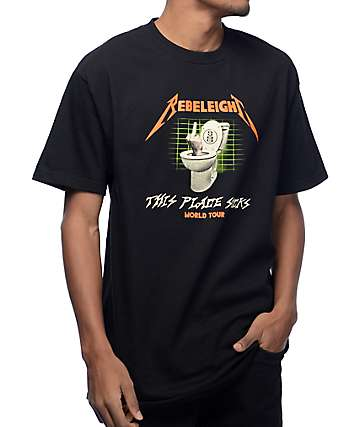 REBEL8 Flushed Black T-Shirt