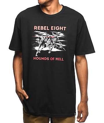 REBEL8 James Jirat Hellhound Black T-Shirt