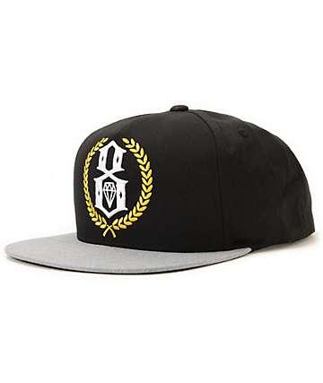 REBEL8 Logo Crest Black Snapback Hat