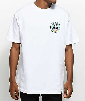 REBEL8 Meditate White T-Shirt