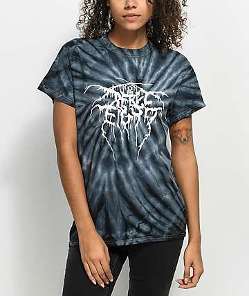 REBEL8 Pagan Black Spiral Tie Dye T-Shirt