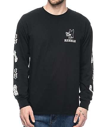 REBEL8 Proper Fucked Long Sleeve Black T-Shirt