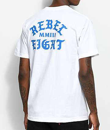 REBEL8 Scriptum White T-Shirt