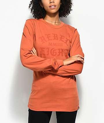 REBEL8 Scriptum camiseta de manga larga en color naranja