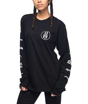 REBEL8 Skeletons Of Society Black Long Sleeve T-Shirt