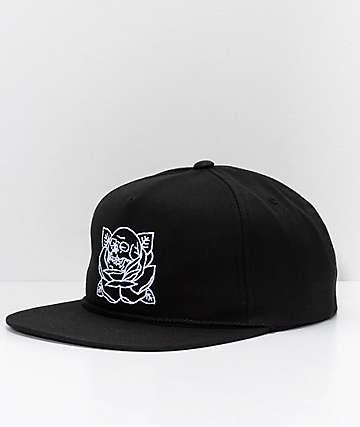 REBEL8 Stigma Black Snapback Hat