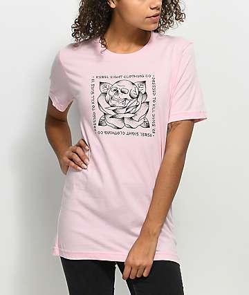 REBEL8 Stigma Pink T-Shirt
