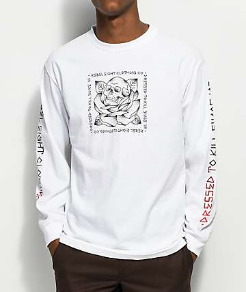 REBEL8 Stigma White Long Sleeve T-Shirt