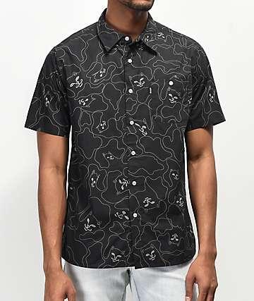RIPNDIP 3M Line camisa negra de camuflaje