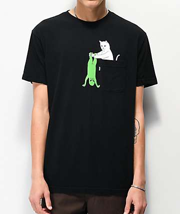RIPNDIP Break Yo Self Black Pocket T-Shirt