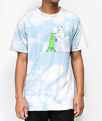 RIPNDIP Break Yo Self Cloud Dye Pocket T-Shirt