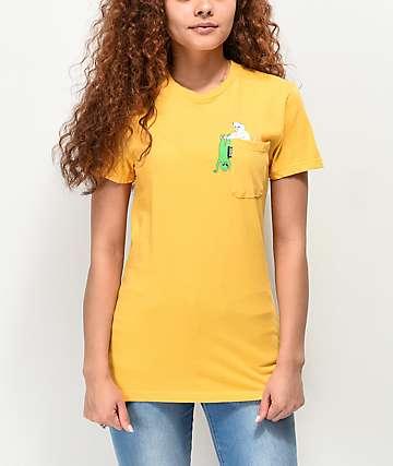 RIPNDIP Break Yo Self camiseta dorada con bolsillo