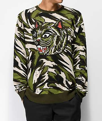 RIPNDIP Camo Cat Sweater