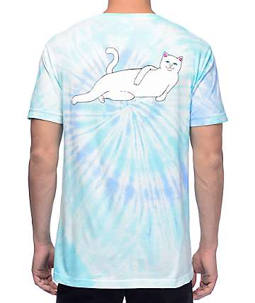 RIPNDIP Castanza Candy Light Blue Spiral Tie Dye T-Shirt