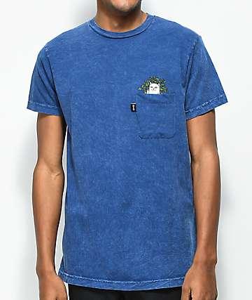 RIPNDIP Cat Nip Blue Wash Pocket T-Shirt