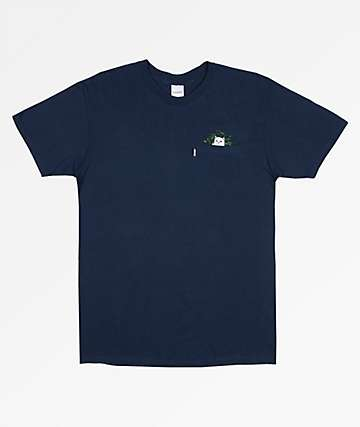 RIPNDIP Cat Nip Navy Pocket T-Shirt