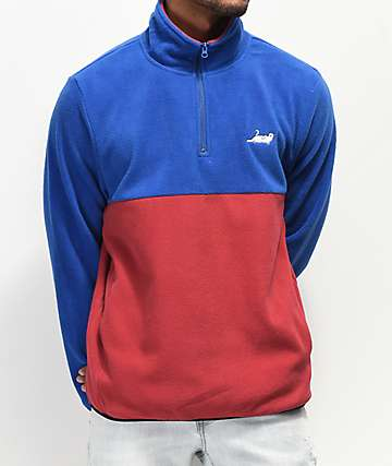 RIPNDIP Catanza Half-Zip Blue & Red Sweatshirt