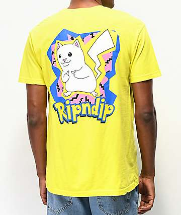 RIPNDIP Catch Em All Yellow T-Shirt