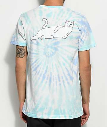 RIPNDIP Catyanza Blue Spiral Tie Dye T-Shirt
