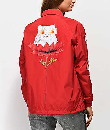 RIPNDIP Daisy Do Cherry chaqueta entrenador roja