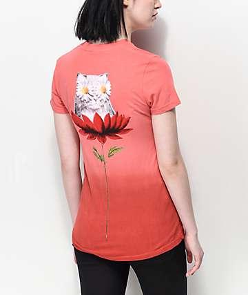 RIPNDIP Daisy Do camiseta roja con efecto teñido